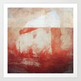 Blood Iceberg Art Print