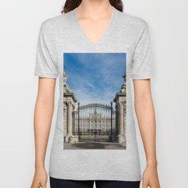 Royal Palace in Madrid Unisex V-Neck