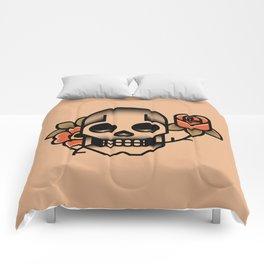 Skull Rose Tattoo Comforters