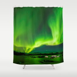 Northern Lights In Iceland Shower Curtain