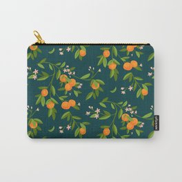 Citrus Tree - Navy Carry-All Pouch