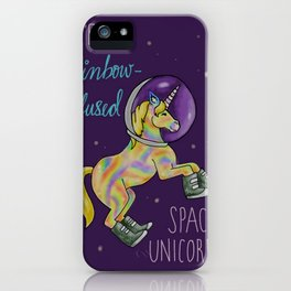 Leslie Knope Compliments: Rainbow-Infused Space Unicorn iPhone Case