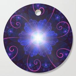 Beautiful Ultra Violet Fractal Nightshade Flower Cutting Board