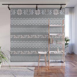 Scandi Knit Ornaments pattern 3 Wall Mural