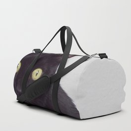 Pretty Kitty, Black Cat With Huge Green Eyes, Halloween Cat Duffle Bag