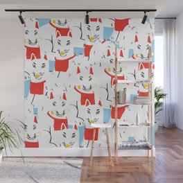 Kitsune Crowd - Japanese Messenger Fox Wall Mural