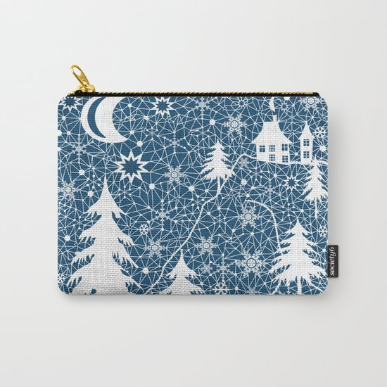 New year's design. Lace fabric . Carry-All Pouch
