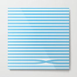 Stripes - Baby Blue Metal Print