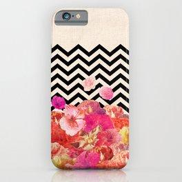 Chevron Flora II iPhone Case