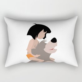 Mowgli e Baloo Rectangular Pillow