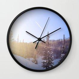 Winter sky Utah Wall Clock