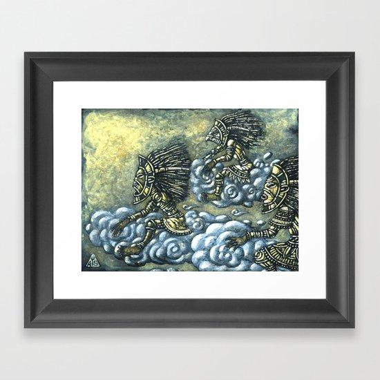 Sky Riders Framed Art Print