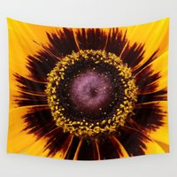 sunshine Wall Tapestries featuring SUNSHINE by Annie Koh