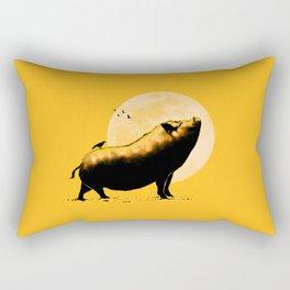 barking pig Rectangular Pillow