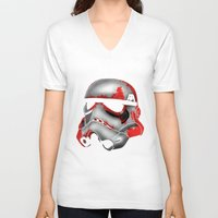 storm trooper V-neck T-shirts featuring Storm Trooper by Art of Fernie