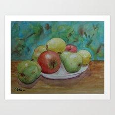 Fruit on a Plate WC150425 Art Print