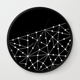 Abstract black and white pattern. Mesh . Wall Clock