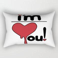 i'm over you! Rectangular Pillow