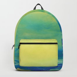 YELLOW & BLUE TOUCHING #1 #abstract #art #society6 Backpack