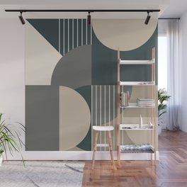 Modern Memphis 2 (forest palette) Wall Mural