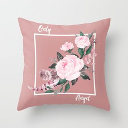 Only Angel Throw Pillow