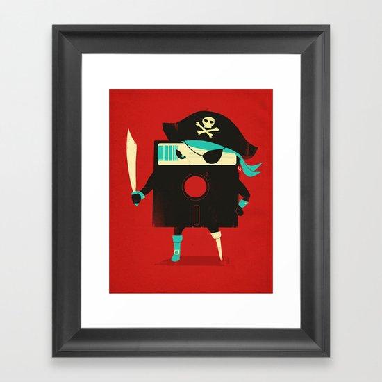 Software Pirate Framed Art Print