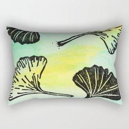 Ginkgo Biloba block print Rectangular Pillow