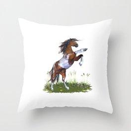 Rearing Horse Throw Pillow