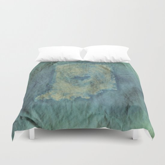 Indianapolis Love Dyed in Hues of Blue (Bag Art) Duvet Cover