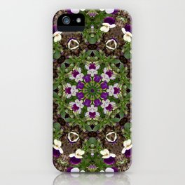 pansies mandal iPhone Case