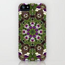 pansies mandal iPhone Case