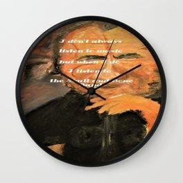 Bukowski, I don't always listen to music, but when I do, I listen to the Skull and Bone Band Wall Clock