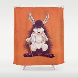 A Clocwork Carrot Shower Curtain