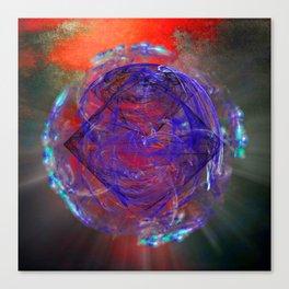 Portal to burning universe Canvas Print