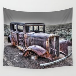 Rusting in the desert Wall Tapestry