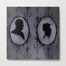 Victorian  silhouette Metal Print