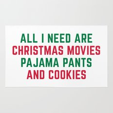 Christmas Movies Funny Quote Rug