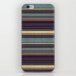 """""""Blue lines burlap"""" iPhone Skin"""