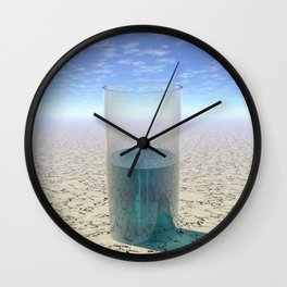 Glass of Water Wall Clock
