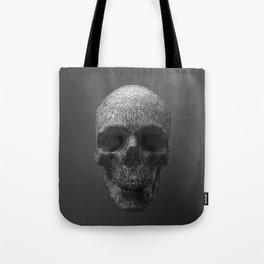 Geometric Grey Skull Lines Tote Bag