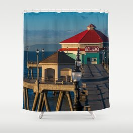 Ruby's on the Pier Shower Curtain