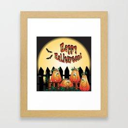 Halloween Pumpkins Framed Art Print