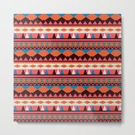 stripes colorful pattern Metal Print