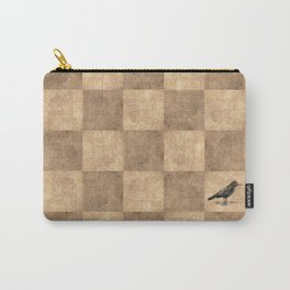 Patchwork Crow Carry-All Pouch