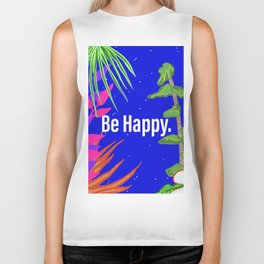 Tropical Be Happy Biker Tank