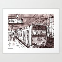 subway Art Prints featuring Subway by Jonas Ericson