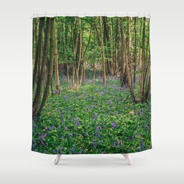 Bluebell Forest Wild Hyacinth Shower Curtain