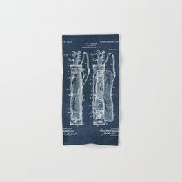 winslow caddy bag patent art Hand & Bath Towel
