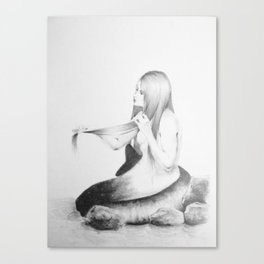 Simple Mermaid  Canvas Print