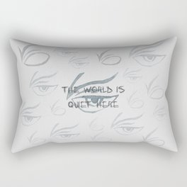The World Is Quiet Here Rectangular Pillow